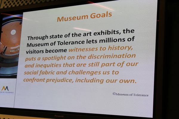 a report from a visit to the museum of tolerance Museum of tolerance: an unforgettable experience - see 134 traveler reviews a visit to the museum of tolerance will help change your view of the world.