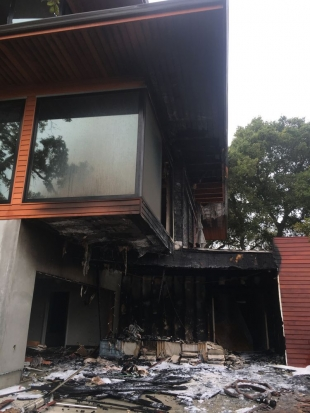 Update Portola Valley House Fire Likely Caused By